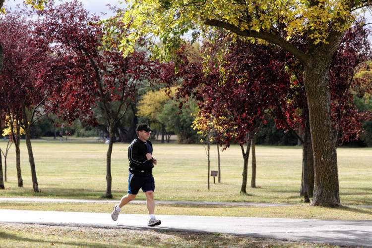 Participants take part in the 32nd Annual Terry Fox Run at Assiniboine Park Sunday morning.