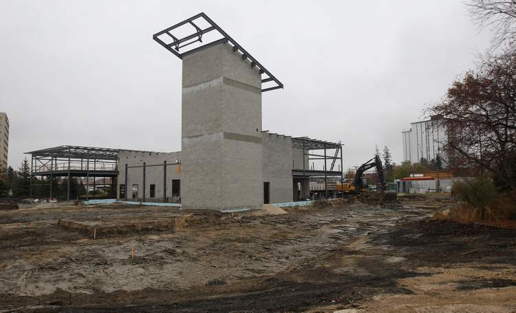 The controversial Station No. 11, which is under construction at 1705 Portage Ave., is over budget.