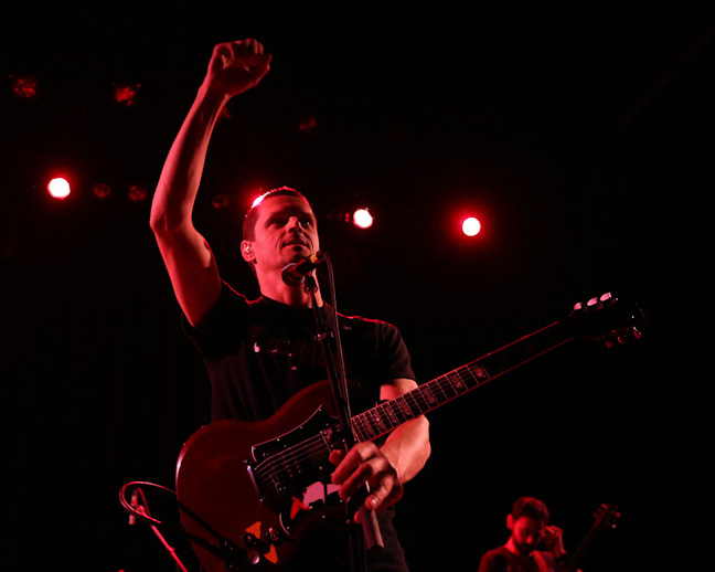Winnipeg thrash-punk band Propagandhi performs a sold-out show at the West End Cultural Centre as part of the Ellice Avenue venue's 25th anniversary celebration.  (Trevor Hagan / Winnipeg Free Press )