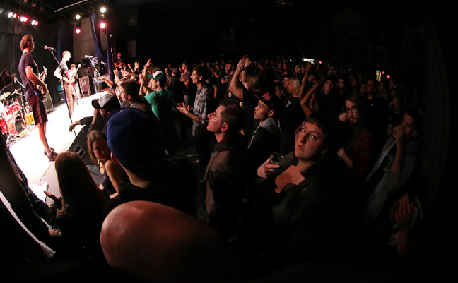 Winnipeg thrash-punk band Propagandhi performs a sold-out show at the West End Cultural Centre as part of the Ellice Avenue venue's 25th anniversary celebration.