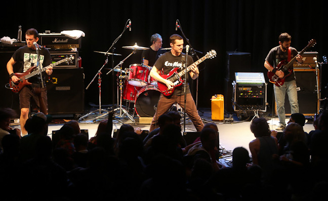 Winnipeg thrash-punk band Propagandhi performs a sold-out show at the West End Cultural Centre. (Trevor Hagan / WINNIPEG FREE PRESS)
