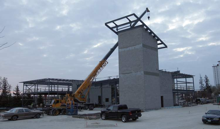 Under construction fire hall in St. James is shown on Oct. 29.