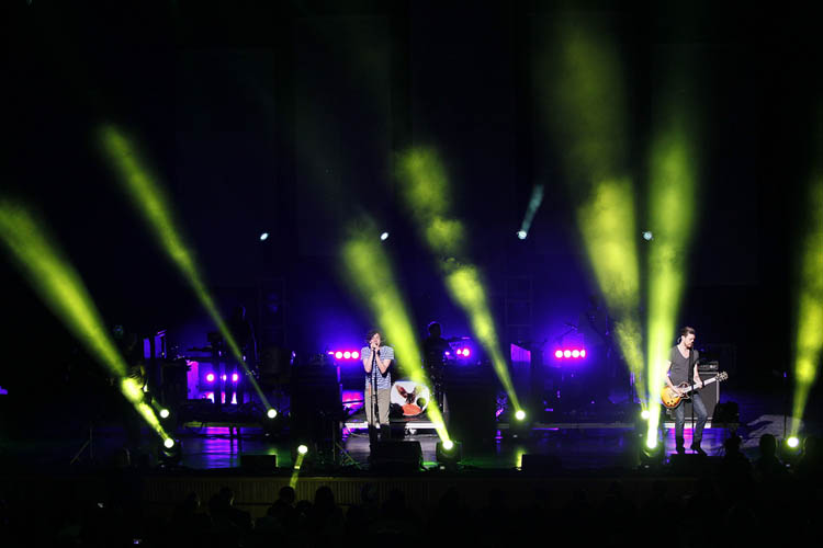 Snow Patrol performs at the Centennial Concert Hall Tuesday October 30, 2012.