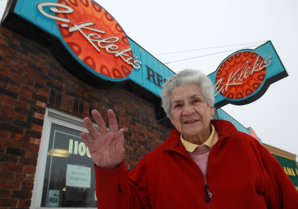 Mary Kelekis closed the restaurant on her 88th birthday.  (JOE BRYKSA / WINNIPEG FREE PRESS)