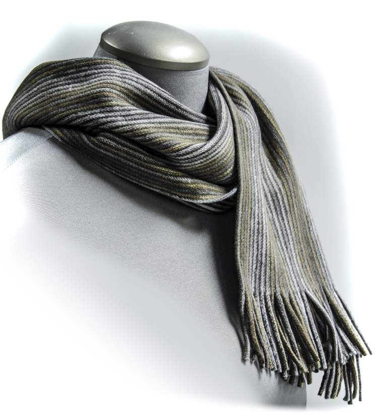 Grey scarf, $22 at Silver Lotus