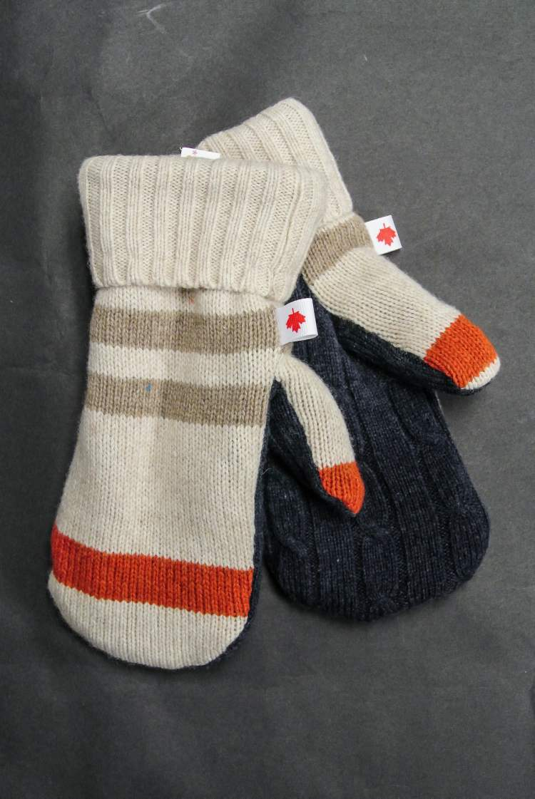 Upcycled mitts, $30, Sew Dandee