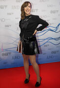 Host and Juno nominee Serena Ryder arrives on the red carpet at MTS Centre Sunday night for the 2014 Juno Awards. 