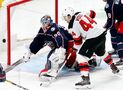 Merzlikins leads Blue Jackets' rout of New Jersey