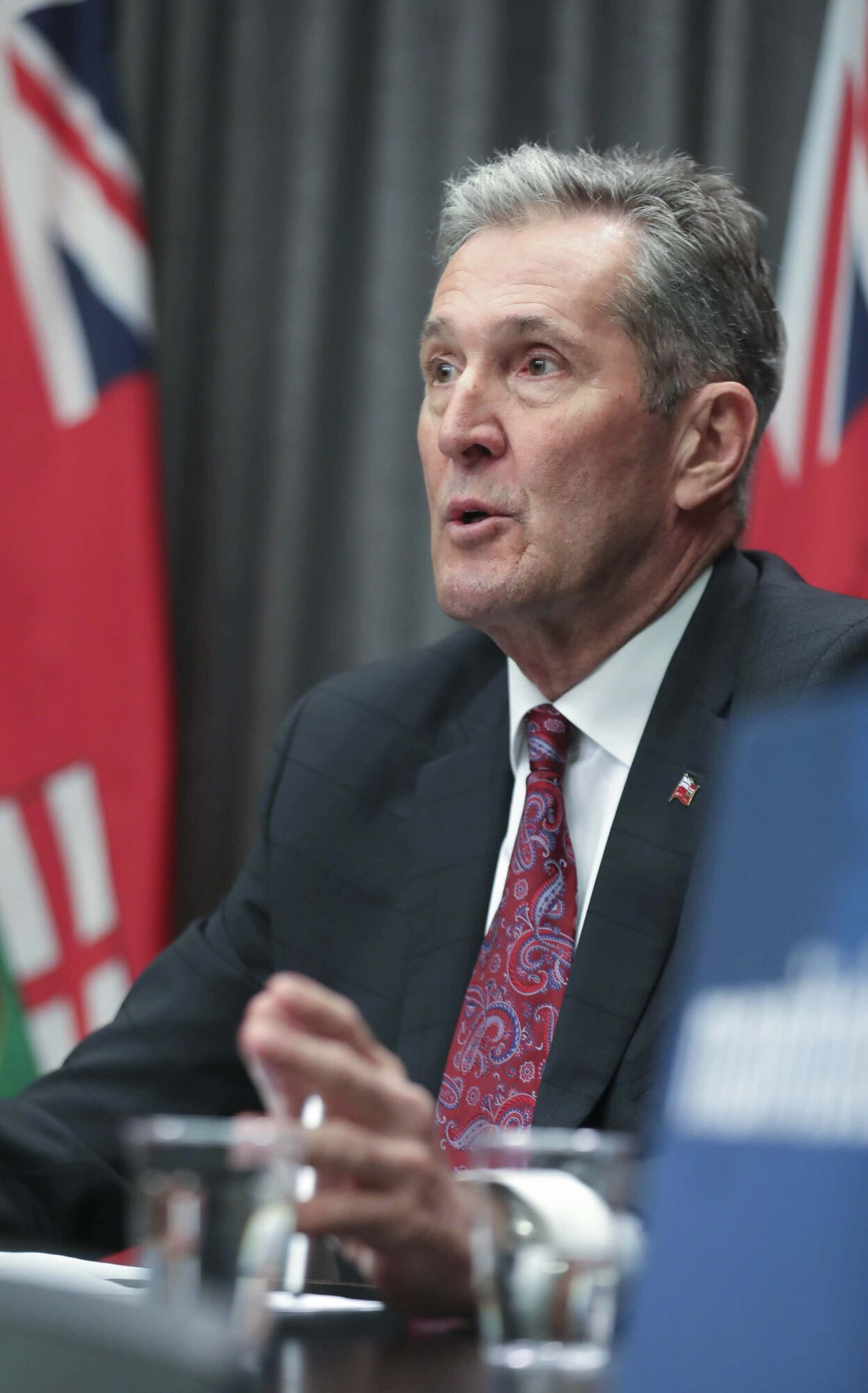 Premier Brian Pallister said that without layoffs, the province's economic recovery would take longer to realize and Hydro's debt — already swollen by capital projects — would continue to grow. (Ruth Bonneville / Winnipeg Free Press)
