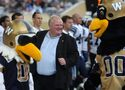 Toronto Mayor Rob Ford watches Argos beat Bombers from the sidelines