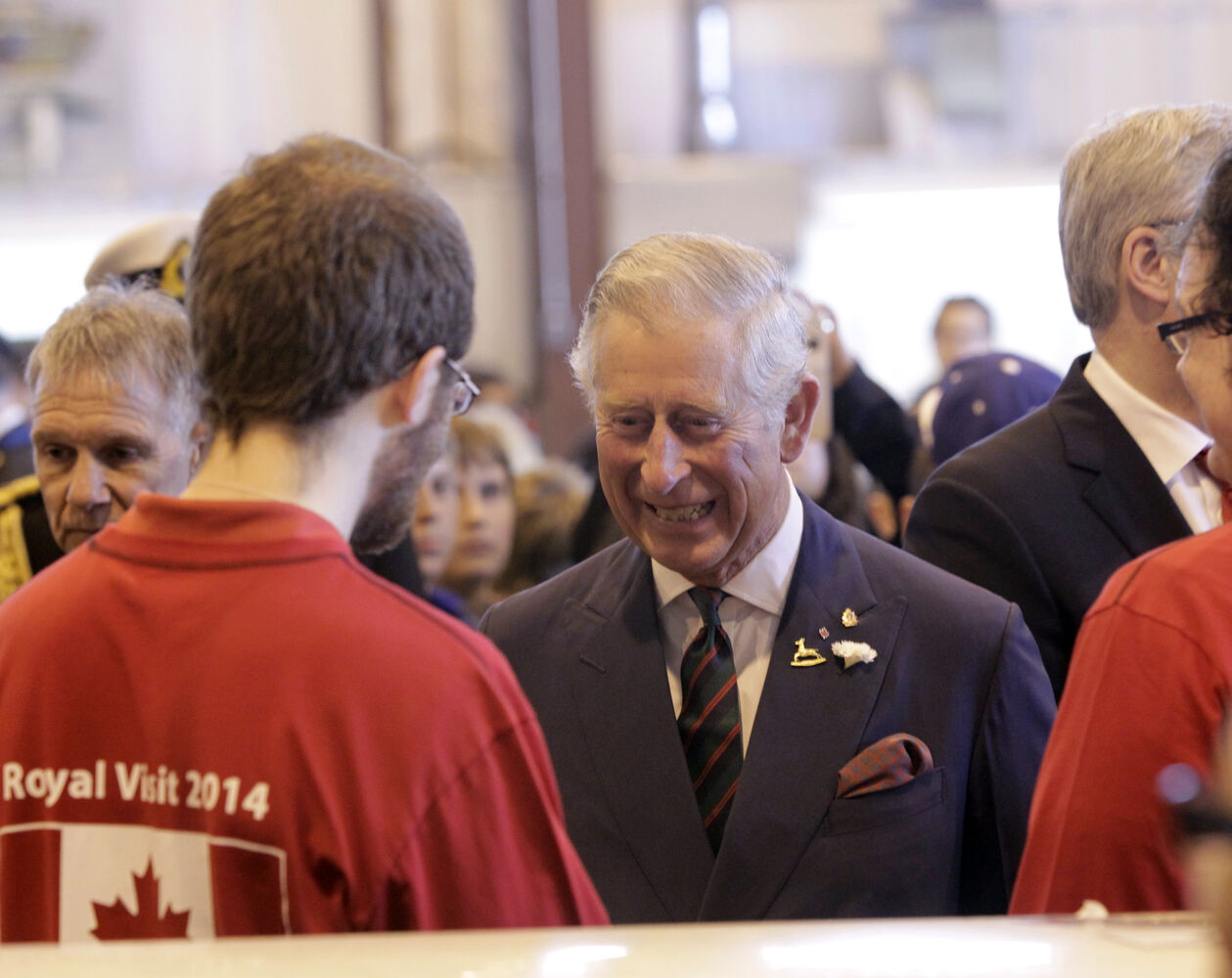 Prince Charles at the Stevenson Hangar.  (Wayne Glowacki / Winnipeg Free Press)