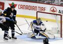 Blues goaltender proud to be public enemy No. 1 in Winnipeg