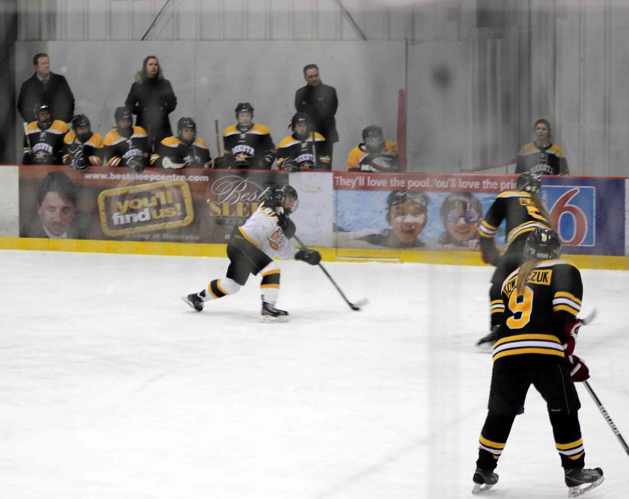 The Dakota Lancers defeated the Fort Richmond Centurions 2-0 in the WWHSHL Division A Championships March 13, 2014.  (Steph Crosier)