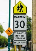 New school-zone signage has columnist Sean Conway pondering other measures.
