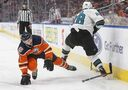 Kevin Labanc with hat trick, Sharks beat Oilers to extend win streak