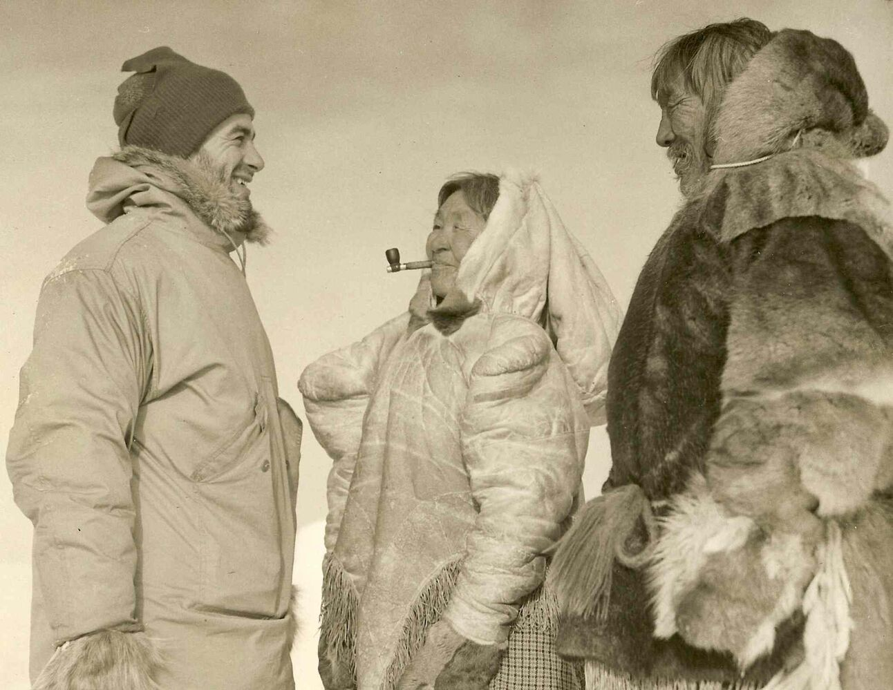 Val Werier chats with some locals during a visit up north. (SUPPLIED PHOTO)
