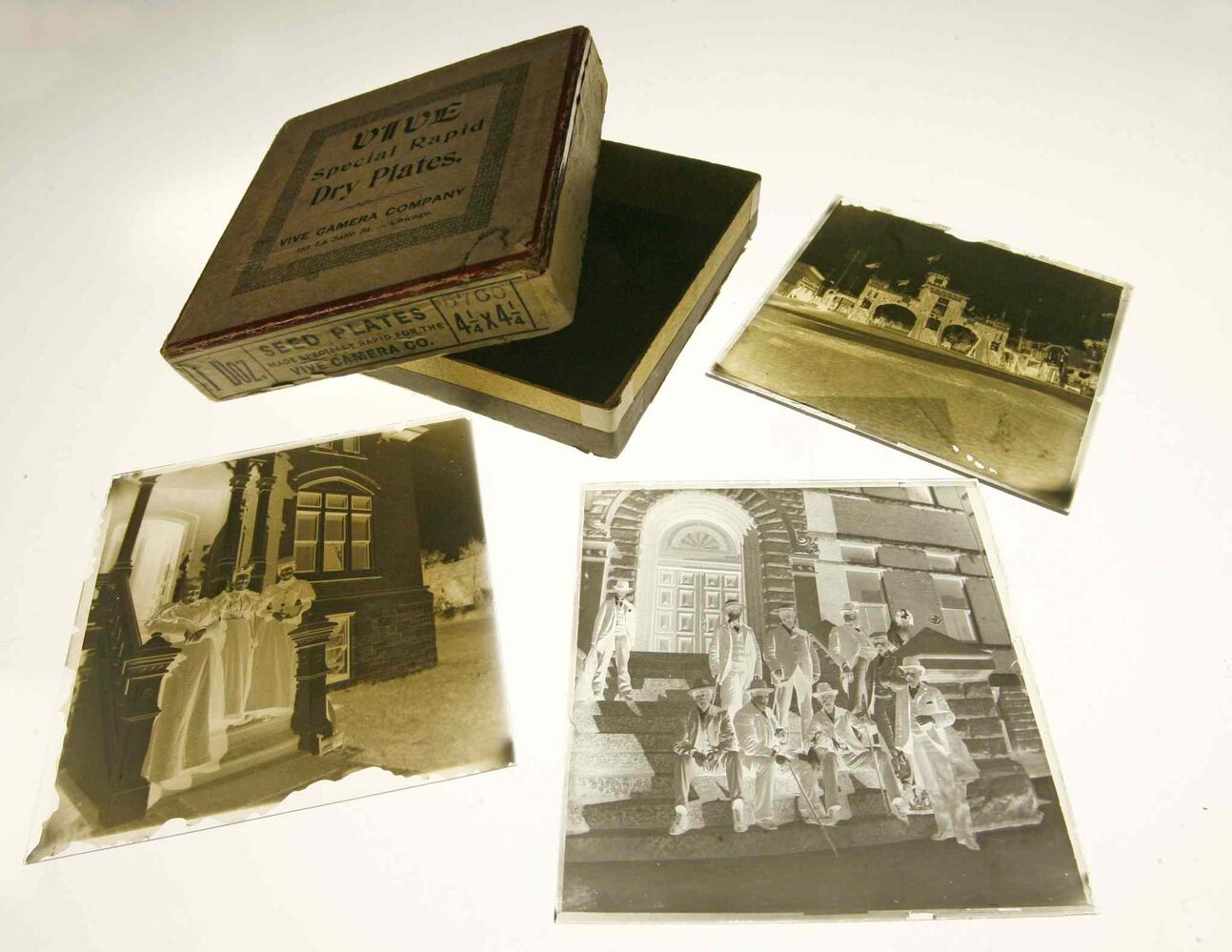 Glass negatives by photographer E.J.C. Smith, taken circa 1898. His photo store was located at 276 Smith Street in Winnipeg.
