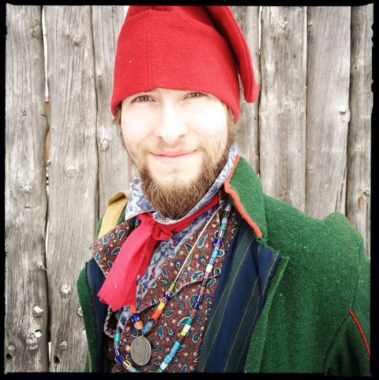 """Sorry, hipsters – the image of the bearded voyageur is not historically accurate. Voyageurs were clean-shaven when they weren't on the move. """"When voyageurs arrived at a fort, they would pull their canoes over to the side of the river and make sure they looked presentable,"""" says Colin Mackie, Festival du Voyageur's heritage-program manager. (Mike Deal / Winnipeg Free Press)"""