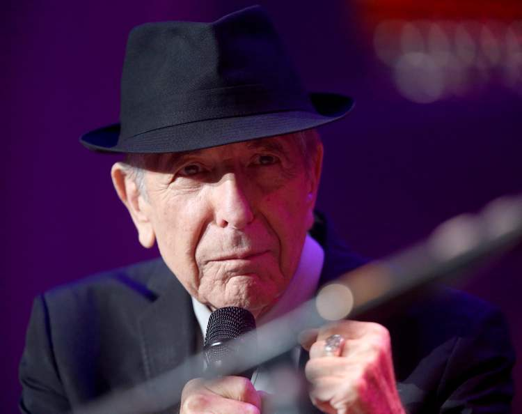 Leonard Cohen performs in 2013 at the MTS Centre. (TREVOR HAGAN / WINNIPEG FREE PRESS)