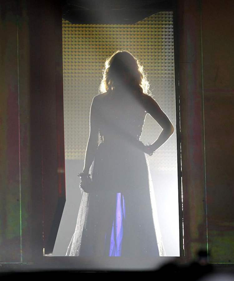 Carrie Underwood gets set to take the stage Wednesday night. (BORIS MINKEVICH / WINNIPEG FREE PRESS)