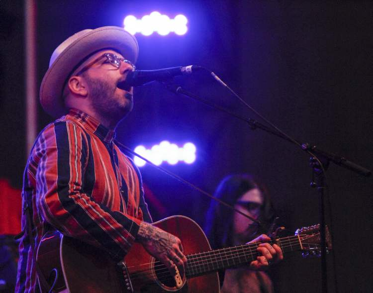 Dallas Green of City and Colour closes out the main stage performances Wednesday night. (JESSICA BURTNICK / WINNIPEG FREE PRESS)