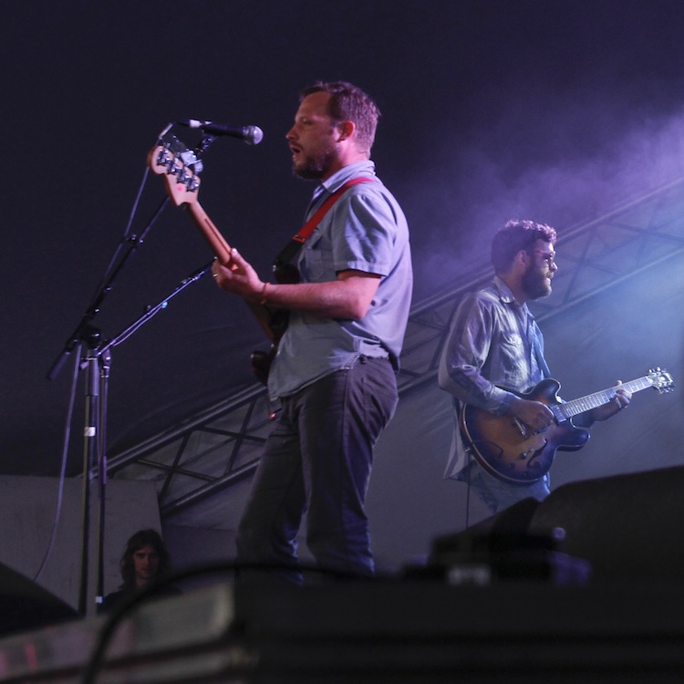 Dr. Dog plays on the Big Blue stage. (JESSICA BURTNICK / WINNIPEG FREE PRESS)