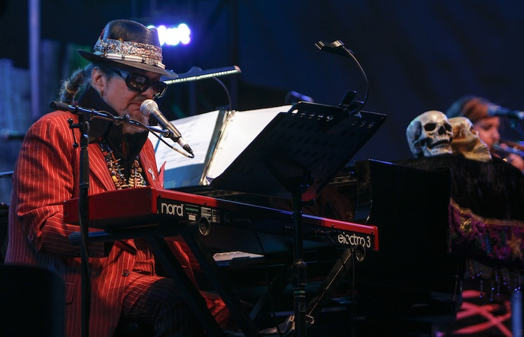 Dr. John & The Nite Trippers perform on the main stage.