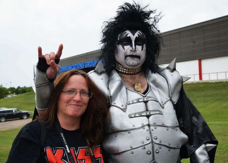 Jackie and Rob Long are ready to rock ahead of Wednesday night's Kiss concert. (Lauren Parsons / Brandon Sun)