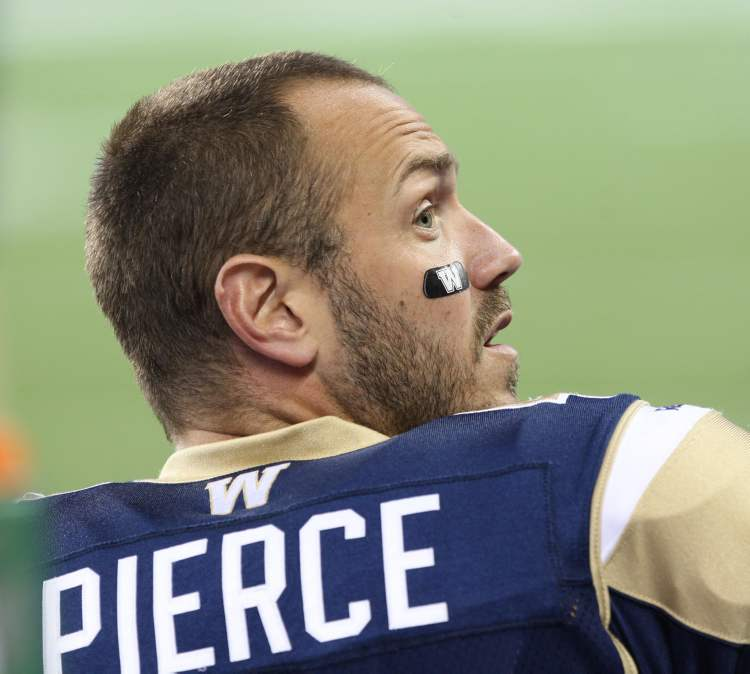 Bomber fans heckled Buck Pierce as he sat on the sidelines late in the game, and at least one seemed to get a response.