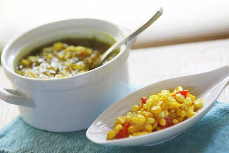 Million-Dollar Relish, left, and Refrigerator Corn Relish add fresh taste from the garden.