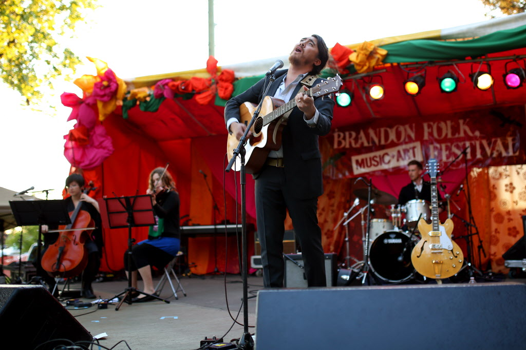 JP Hoe performs at the Brandon Folk, Music and Art Festival in this file photo. He's set to perform in Winnipeg later this month.