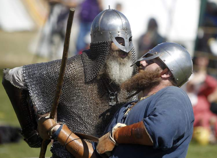 Alas, this Viking hath been smote. (TREVOR HAGAN / WINNIPEG FREE PRESS)