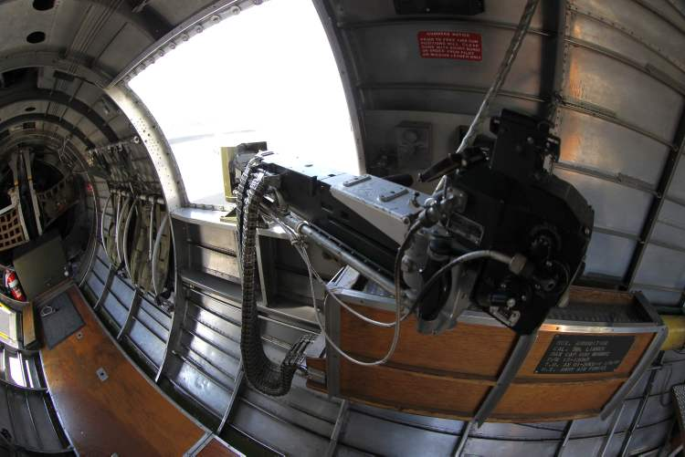 The waist gunner section of Sentimental Journey. (BORIS MINKEVICH / WINNIPEG FREE PRESS)