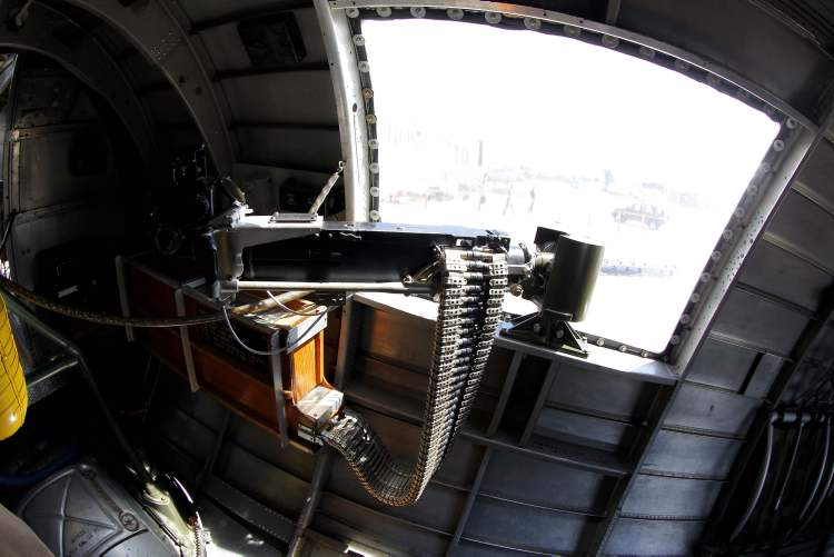 The waist gunner section of the B-17 bomber. (Boris Minkevich)