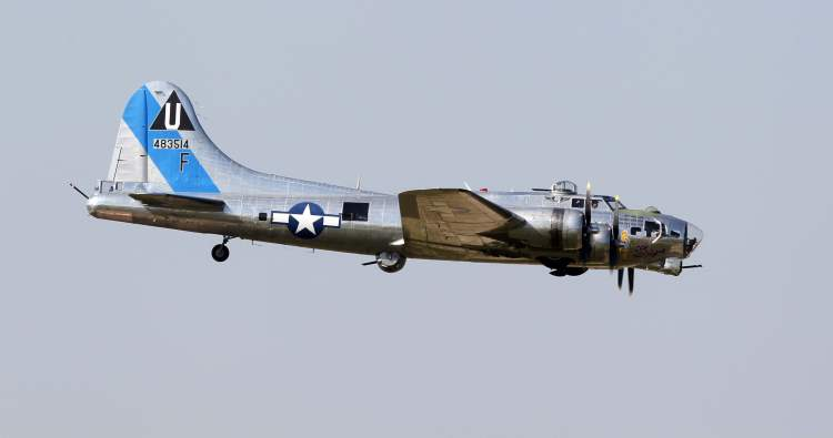 This B-17, dubbed Sentimental Journey, was used in Pacific campaigns during the Second World War.