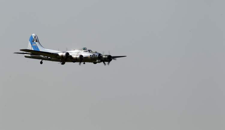 Known as a 'Flying Fortress' during the Second World War, B-17s were common in strategic bombing campaigns against Germany by the U.S. Army Air Forces.
