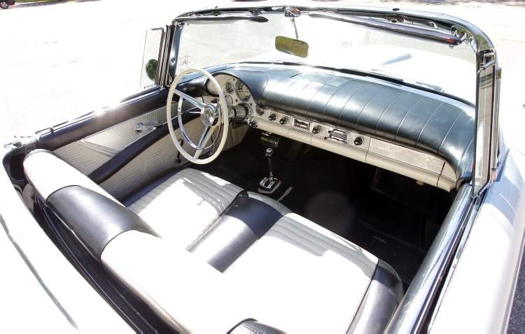 No detail has been overlooked in the restoration of the Courcelles' '57 Thunderbird.