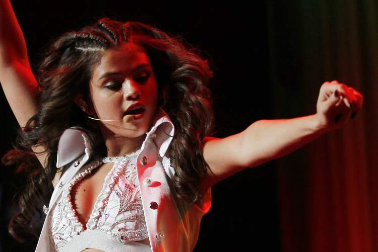 Selena Gomez performs at MTS Centre in Winnipeg Monday, August 19, 2013.
