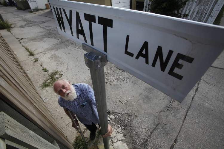 Coun. Harvey Smith has named one of the chewed-up back lanes in his ward after Coun. Russ Wyatt, who is deputy mayor and on EPC.