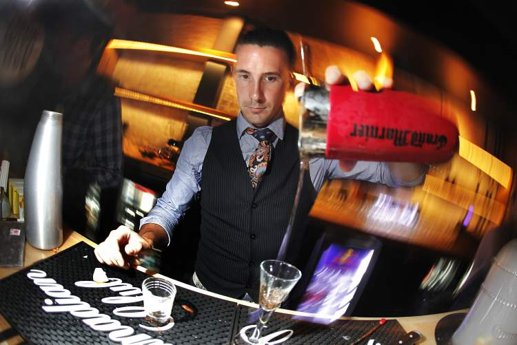 Blake Lelyk from Joey Kenaston at the Made With Love National Mixology Competition regional finals. (John Woods / Winnipeg Free Press)