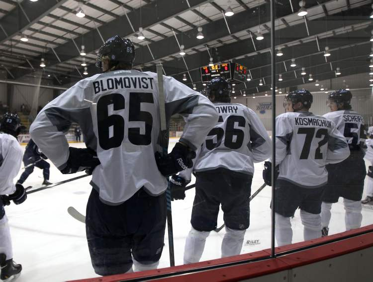 Towering 6-5 forward Axel Blomqvist will be among the prospects the Jets have assigned to Penticton, B.C., for the Young Stars Tournament.