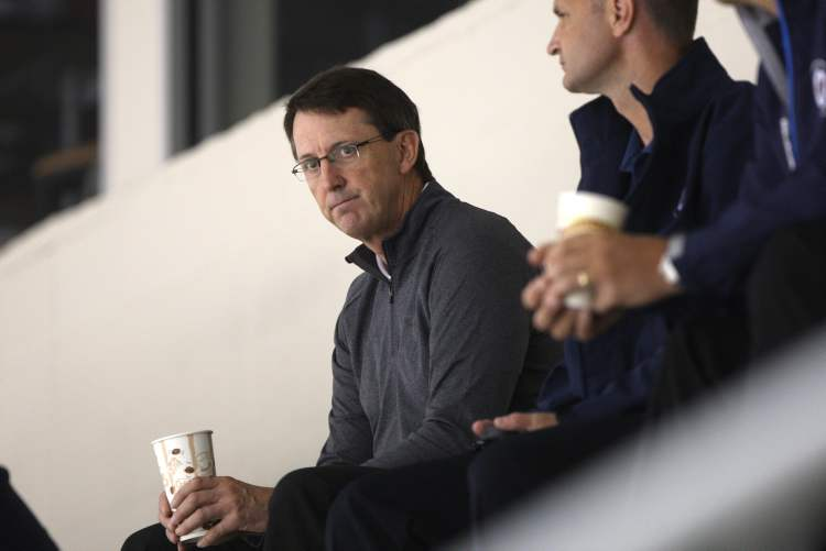 Mark Chipman also took in the practice.