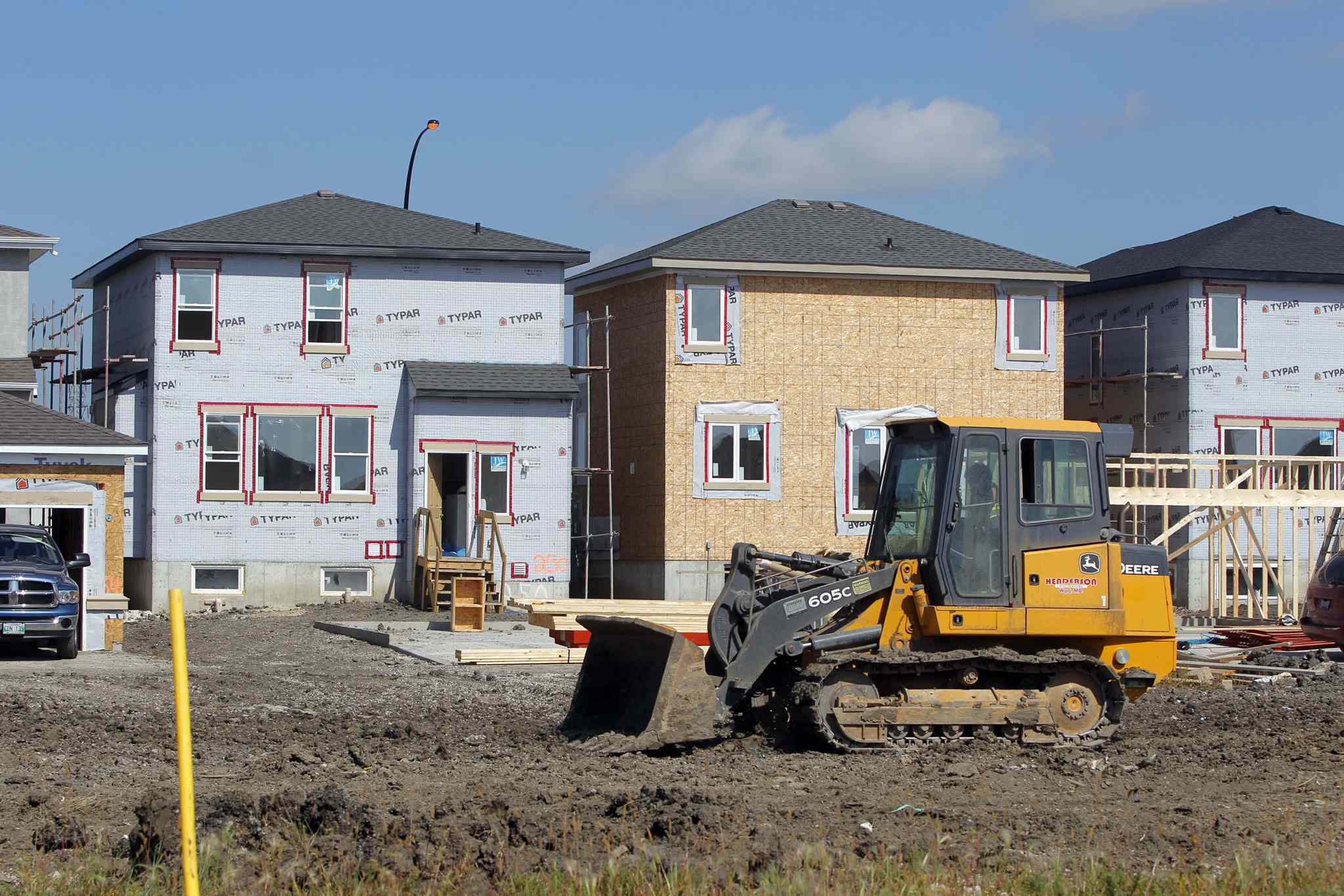 The new-homes portion of the housing market is more able to respond to slowdowns, as the projects are smaller.