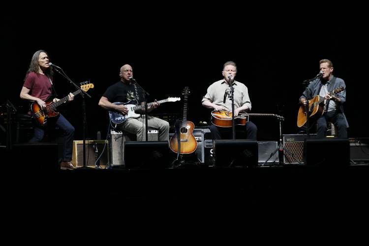 From left: Timothy B. Schmit, Bernie Leadon, Don Henley, Glenn Frey.
