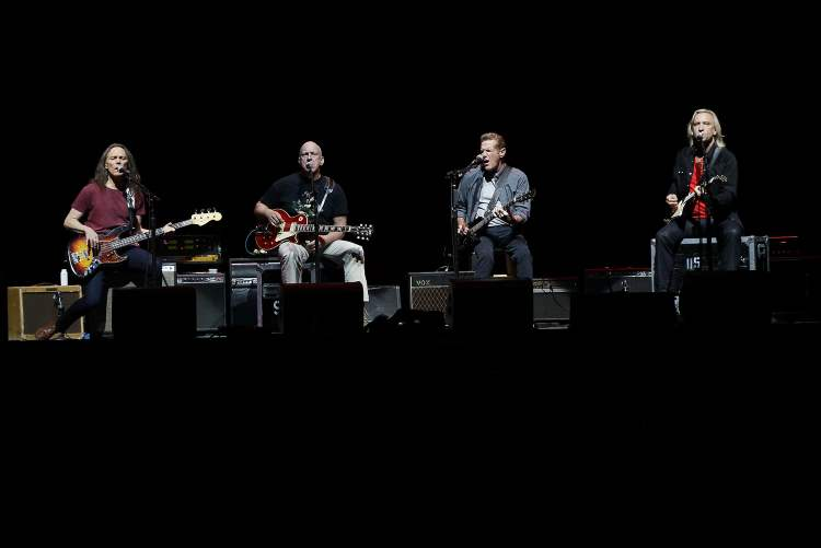 From left: Timothy B. Schmit, Bernie Leadon, Glenn Frey and Joe Walsh. (John Woods / Winnipeg Free Press)