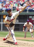 Philadelphia Phillies starting pitcher Cole Hamels pitches during the third inning of a baseball game against the San Francisco Giants, Thursday, July 24, 2014, in Philadelphia. (AP Photo/Chris Szagola)