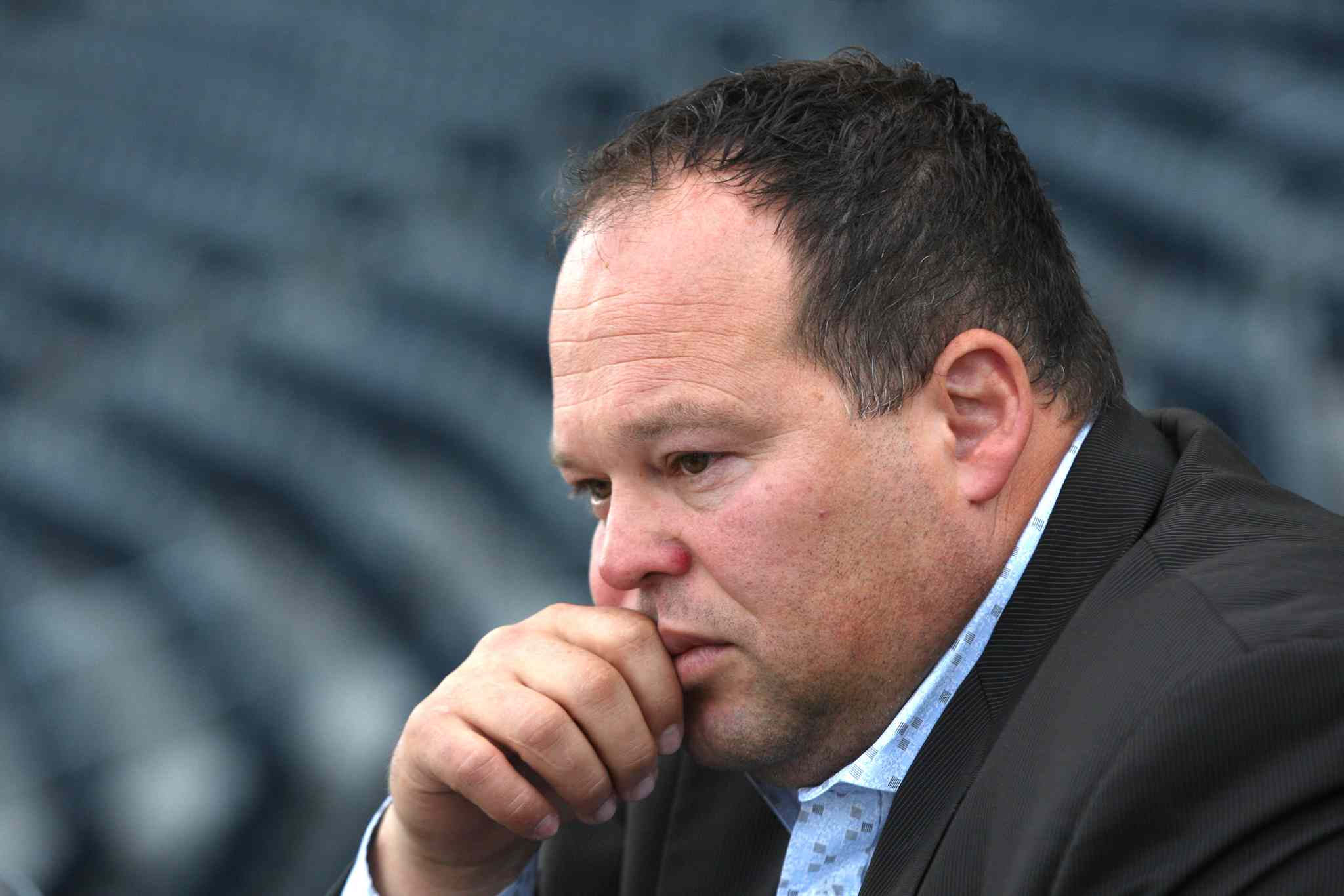 It's time to unshackle 'acting' CEO Wade Miller (above) and 'acting' GM Kyle Walters if the Bombers expect any success in renewing season tickets for 2014, Brown argues.