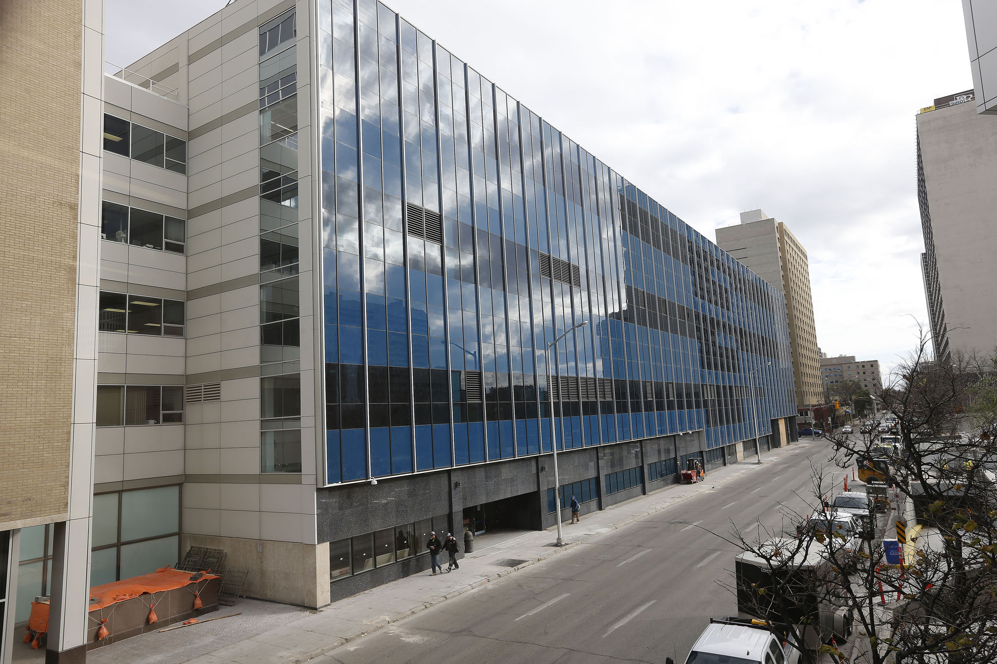 The new police headquarters on Graham Avenue is $76 million over-budget.