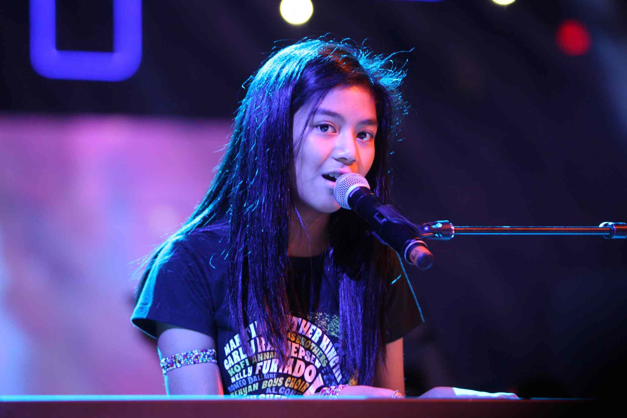 Maria Aragon performed at the 3rd annual We Day at MTS Centre in October.
