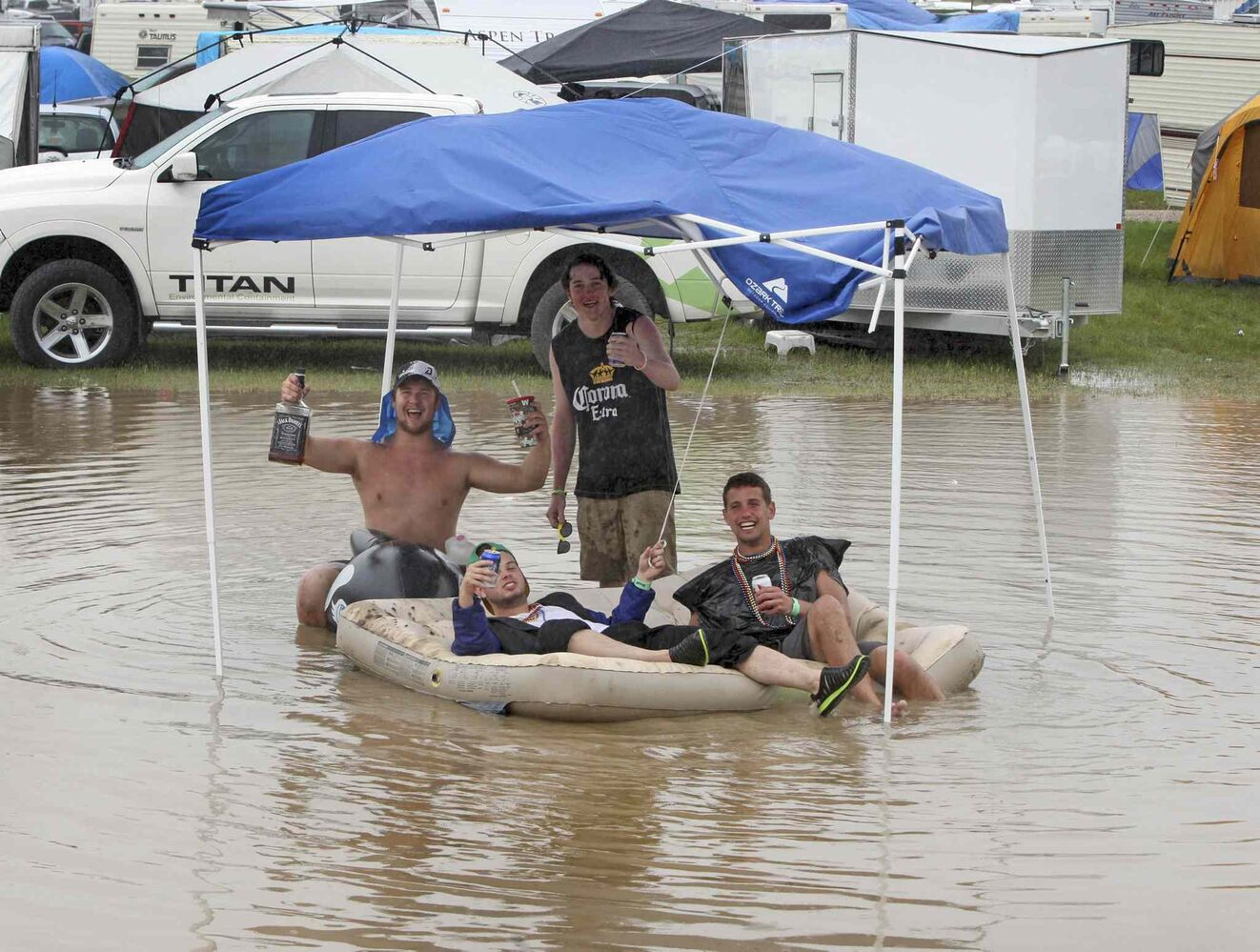 Rain blessed festival goers most of the weekend.